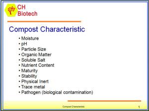 Organic Compost Characteristic