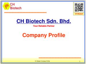 CH Biotech S/B Company Profile